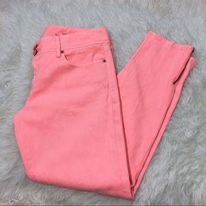 Lilly Pulitzer Worth Skinny Mini Zip Jeans Size 8